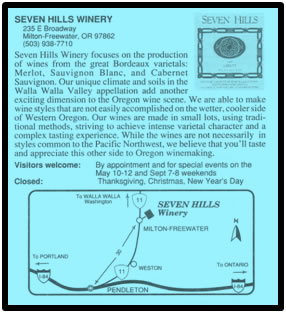 Seven Hills Winery & Vineyard